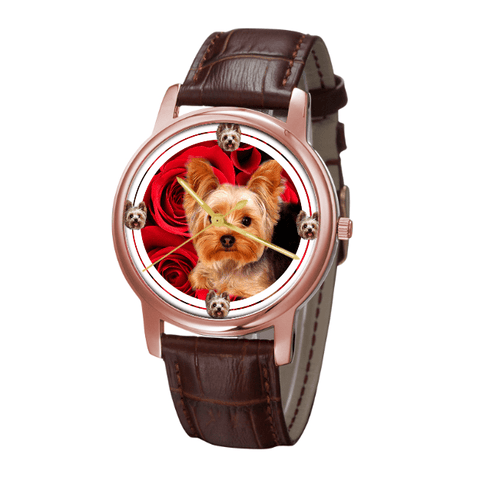 Yorkshire Terrier Classic Wrist Watch- Free Shipping