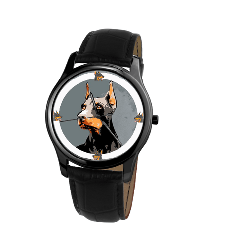 Doberman Pinscher Unisex Wrist Watch- Free Shipping