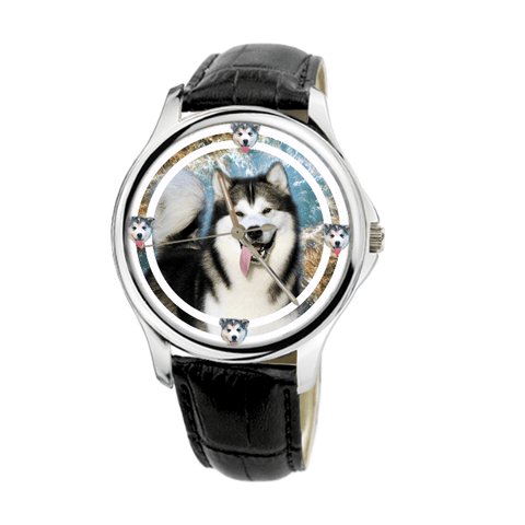 Alaskan Malamute Unisex Fashion Wrist Watch- Free Shipping