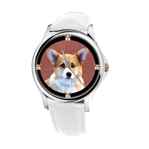 Pembroke Welsh Corgi Women's Silver Wrist Watch - Free Shipping