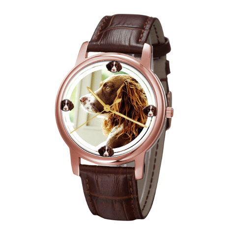 English Springer Spaniel Classic Wrist Watch- Free Shipping