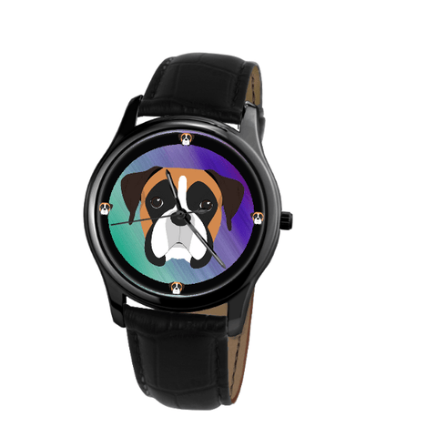 Boxer Dog Print Unisex Fashion Wrist Watch- Free Shipping