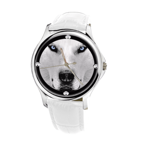 Siberian Husky Fashion Women's Silver Wrist Watch - Free Shipping