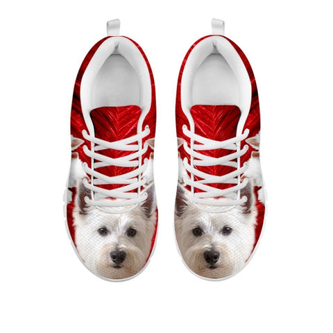 Cute West Highland White Terrier Print Sneakers For Women- Free Shipping-For 24 Hours only