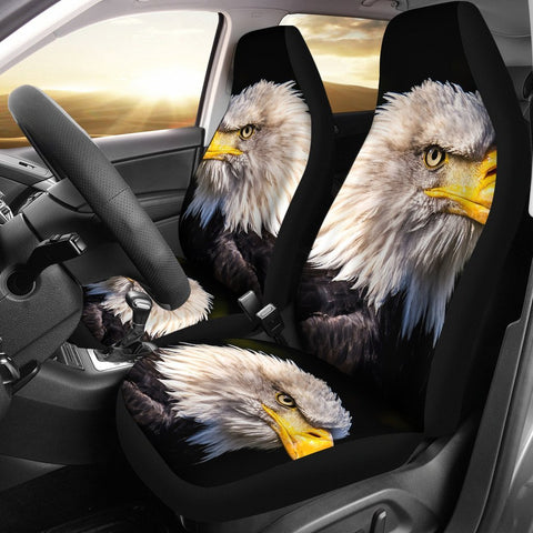 White Tailed Eagle Bird Print Car Seat Covers-Free Shipping