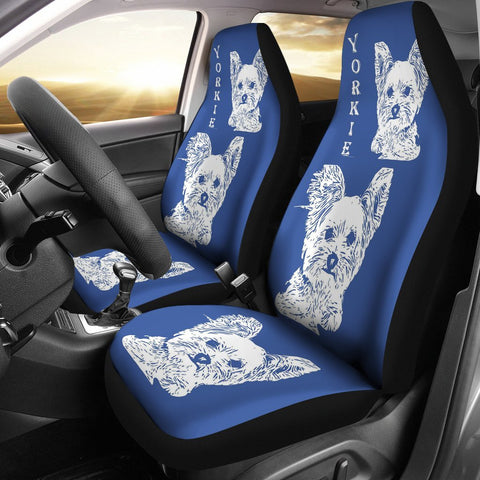 Yorkie Dog Print Car Seat Covers-Free Shipping