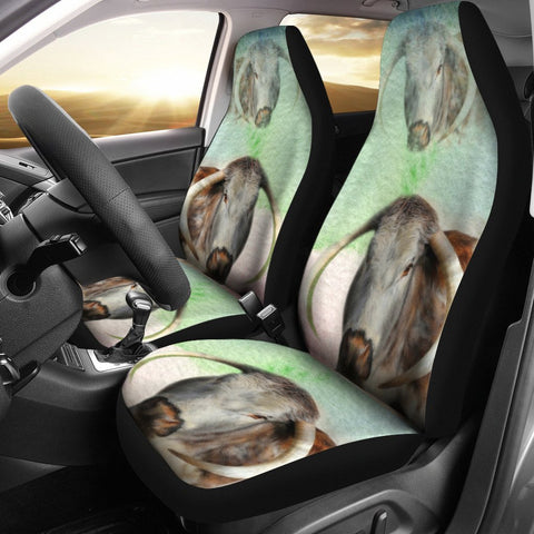 English Longhorn Cattle (Cow) Print Car Seat Covers-Free Shipping