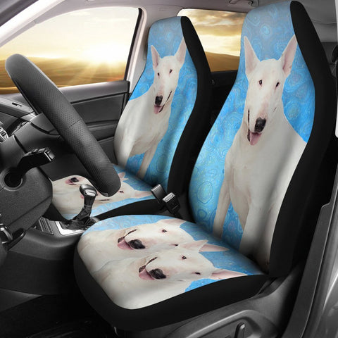 Bull Terrier Dog Print Car Seat Covers-Free Shipping