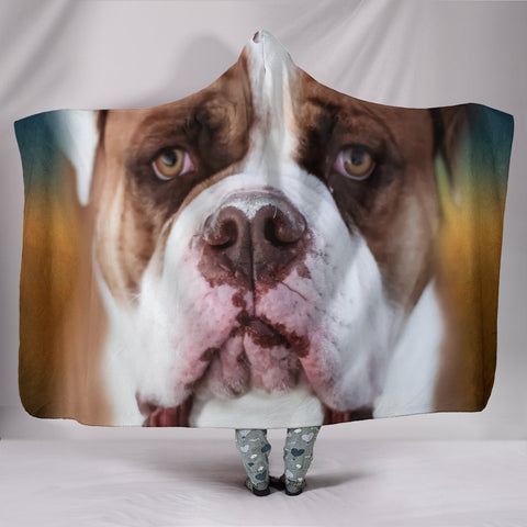 Bulldog Print Hooded Blanket-Free Shipping