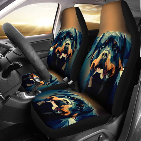 Rottweiler Dog Vector Art Print Car Seat Covers-Free Shipping