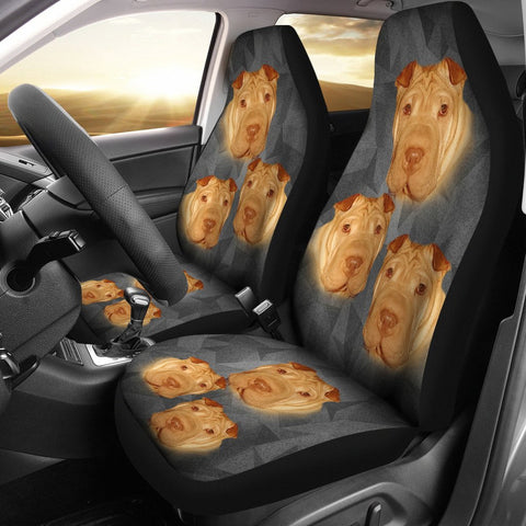 Chinese Shar Pei Print Car Seat Covers-Free Shipping