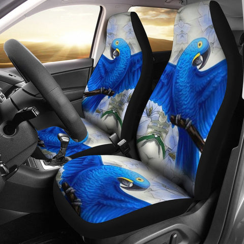 Hyacinth macaw Parrot Print Car Seat Covers-Free Shipping