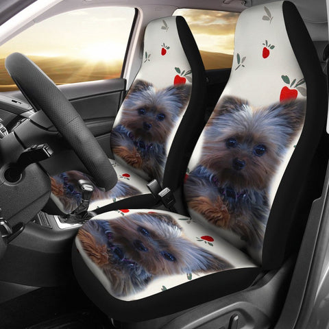 Cute Yorkshire Terrier (Yorkie) Print Car Seat Covers-Free Shipping