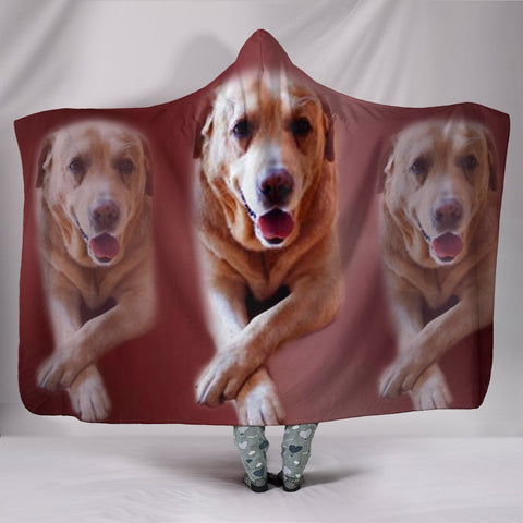 Labrador Dog Print Hooded Blanket-Free Shipping