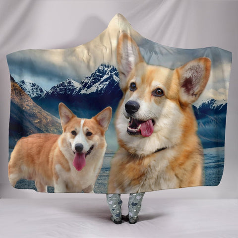 Pembroke Welsh Corgi Print Hooded Blanket-Free Shipping