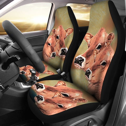 Jersey Cattle (Cow) Print Car Seat Cover-Free Shipping