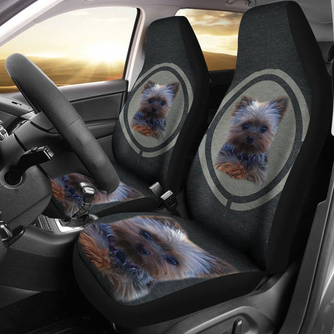 Yorkshire Terrier (Yorkie) Print Car Seat Covers-Free Shipping