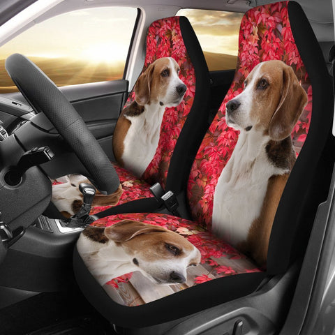 Cute English Foxhound Print Car Seat Covers-Free Shipping