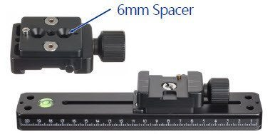 Pole Accessory - 6mm Spacer Block For QRC