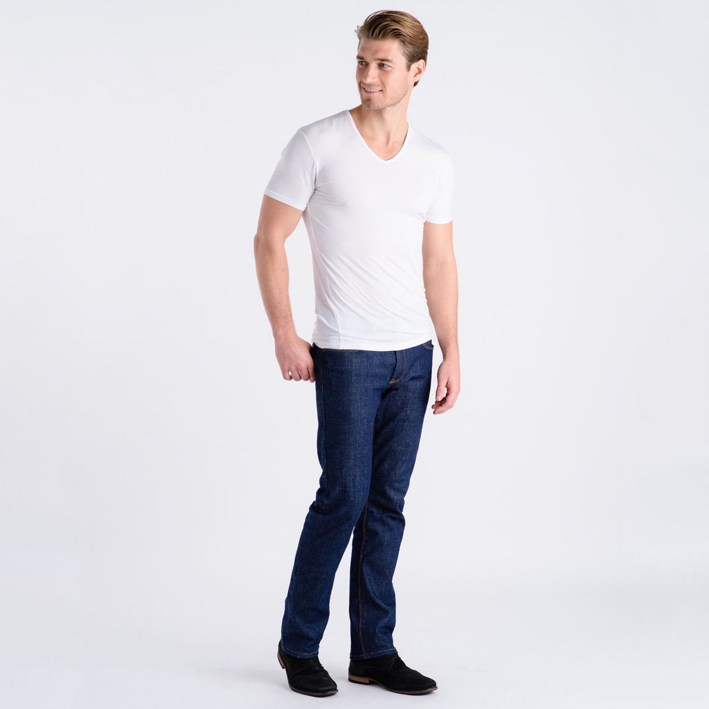 Men's Bliss Modal Tee / Undershirt V-Neck - Comfortable Club - Best Men's & Women's Underwear