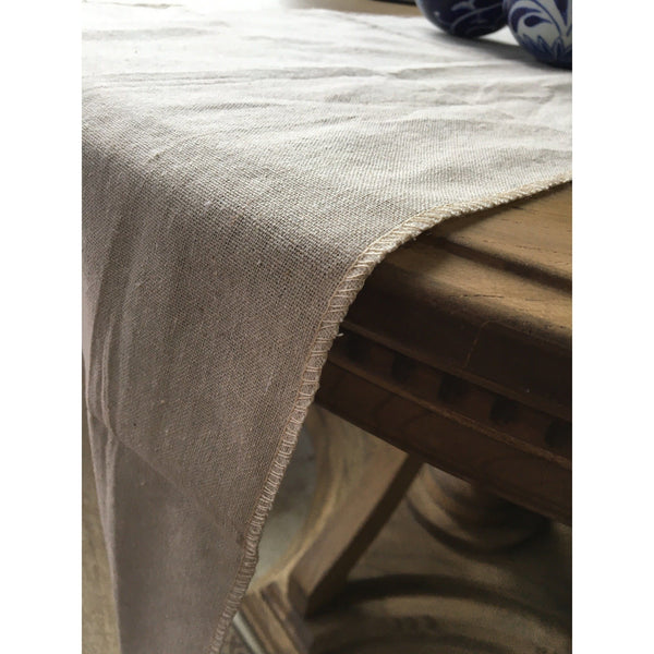 "Natural Linen Table Runner, 12.5"" x 120"""