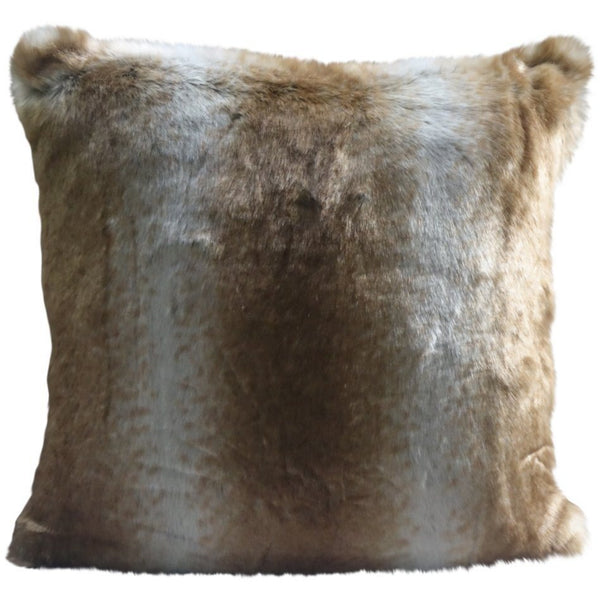 Faux Fur Pillow, Latte