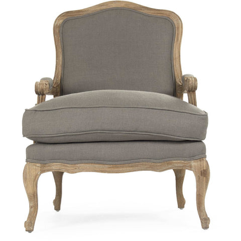 Furniture - Bastille Arm Chair, Grey Linen