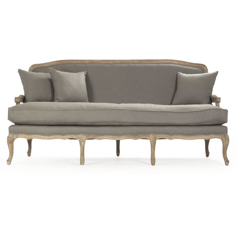 Furniture - Bastille Sofa, Natural Grey Linen