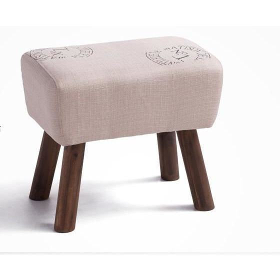 Furniture - Handmade French Accent Stool, French Print