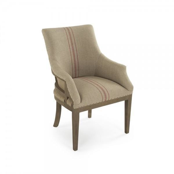 Furniture - Le Fermier Armchair, English Khaki Red Stripe