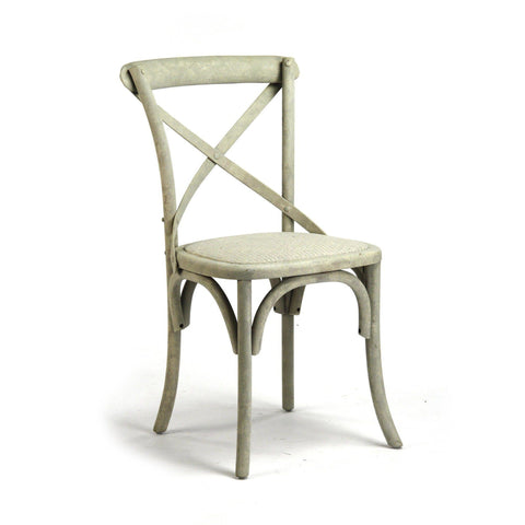 Furniture - Parisienne Cafe Chair, Distressed Off White