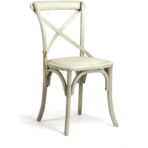 Furniture - Parisienne Cafe Chair, French Antique Off White