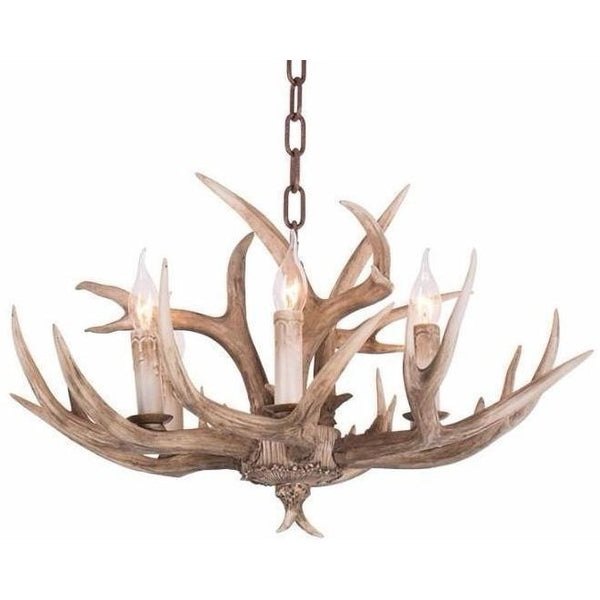 Lighting - Faux Elk Antler Chandeliers - 6 Lights