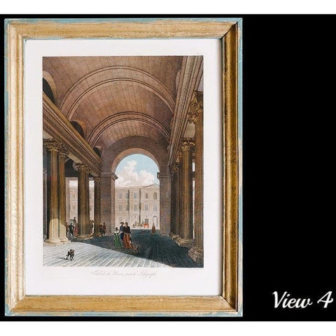 Objects & Accessories - Views Of The Louvre, Antiqued Framed Engravings