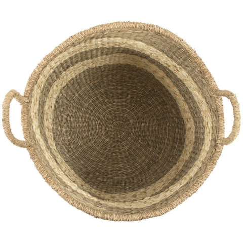 Objects & Accessories - Woven Striped Market Baskets (Set Of Two)
