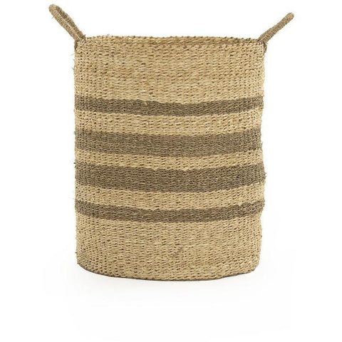 Objects & Accessories - Woven Striped Wire Baskets (Set Of Three)
