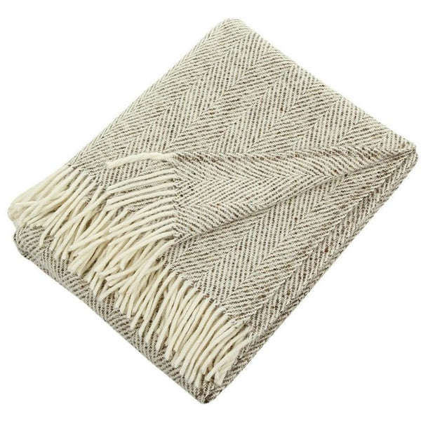 Soft Furnishings - Heavy Herringbone Throw, Natural