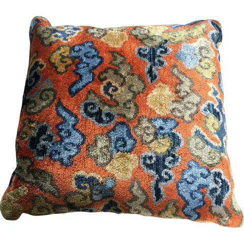 Soft Furnishings - Tibetan Hand Woven Pillow, Cloud Design