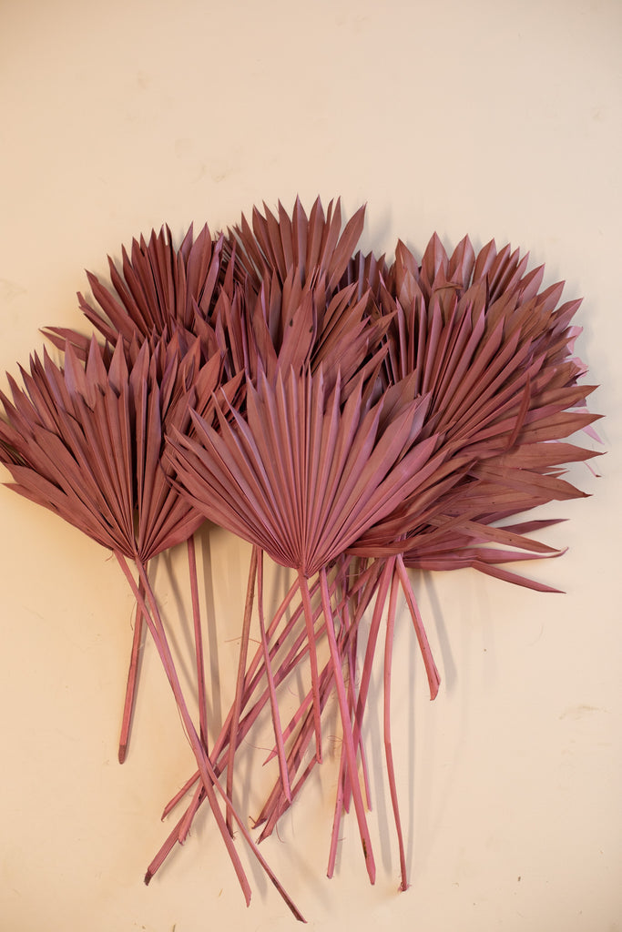 Palm Leaves Clearance 20 stems - Dusty Rose - LUXE B OFFICIAL
