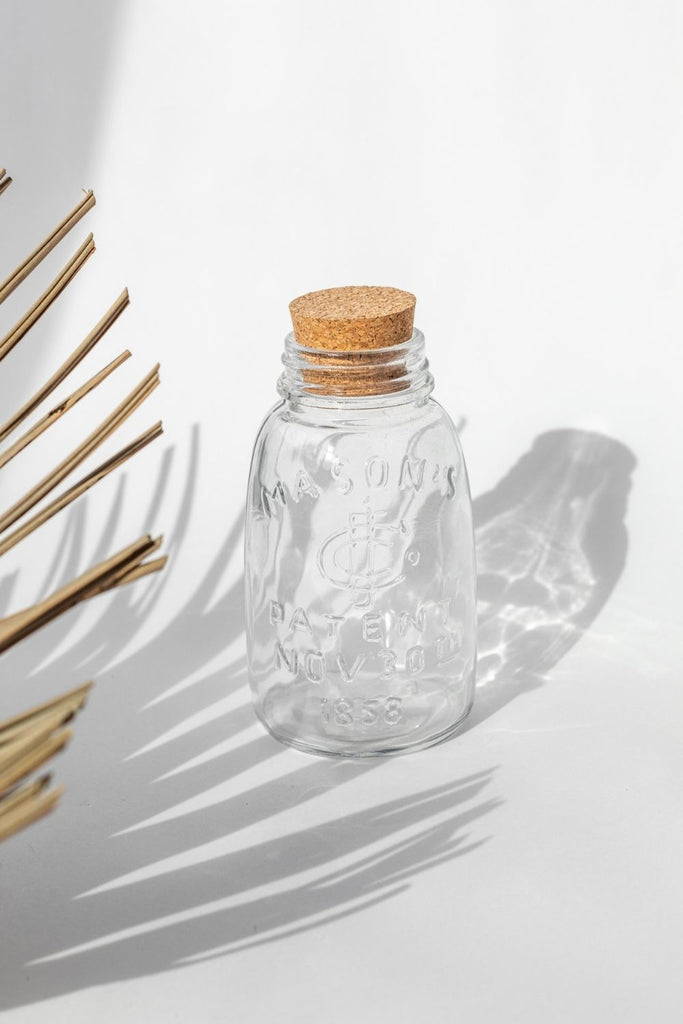Glass Bottle W/ Cork Stopper - LUXE B PAMPAS GRASS