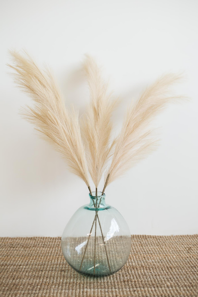 "Luxe B ""Faux"" Artificial Pampas Grass Taupe Sand - LUXE B PAMPAS GRASS"