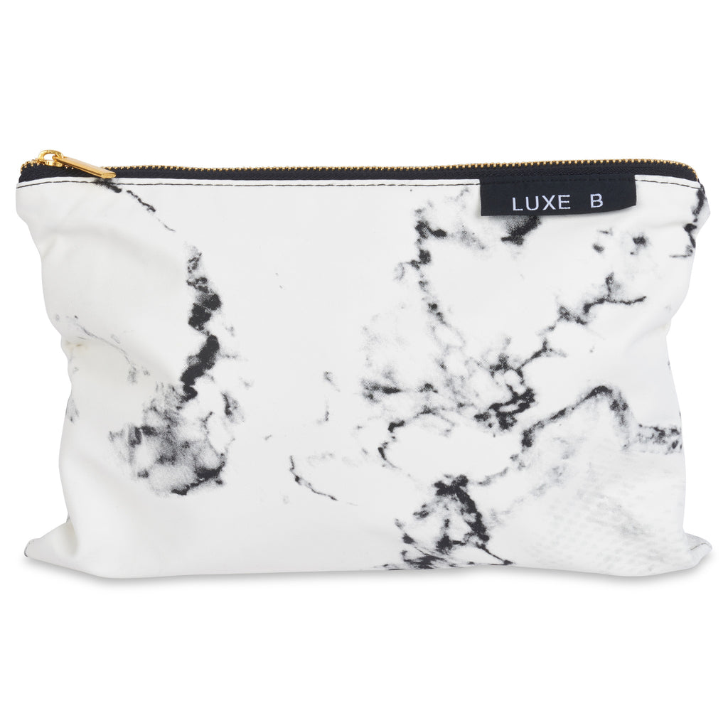 LUXE B Marble Cosmetic Makeup Bag - LUXE B OFFICIAL