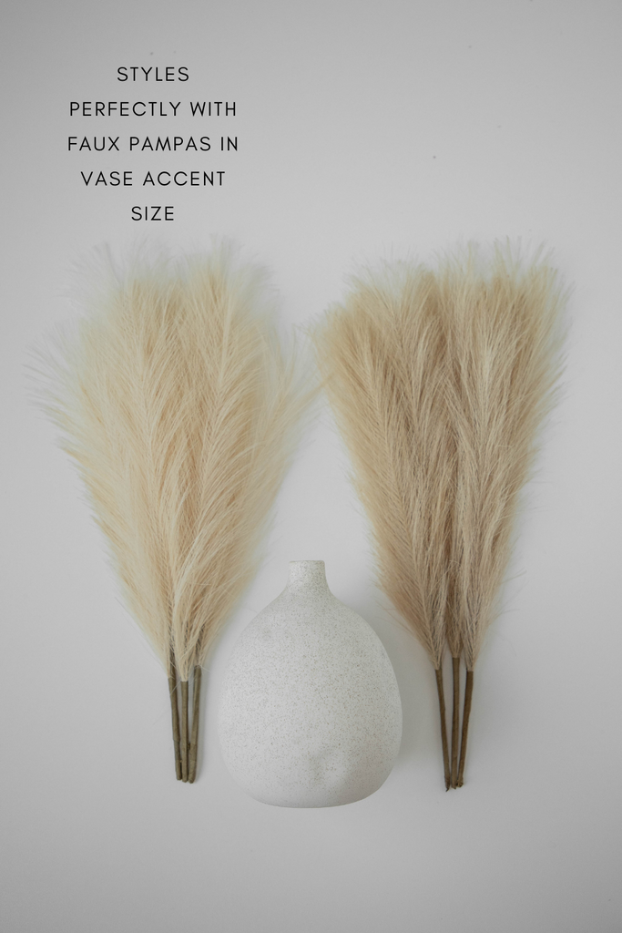 "Luxe B ""Faux"" Artificial Pampas Grass + Mojave Vase Promo Pack - LUXE B OFFICIAL"