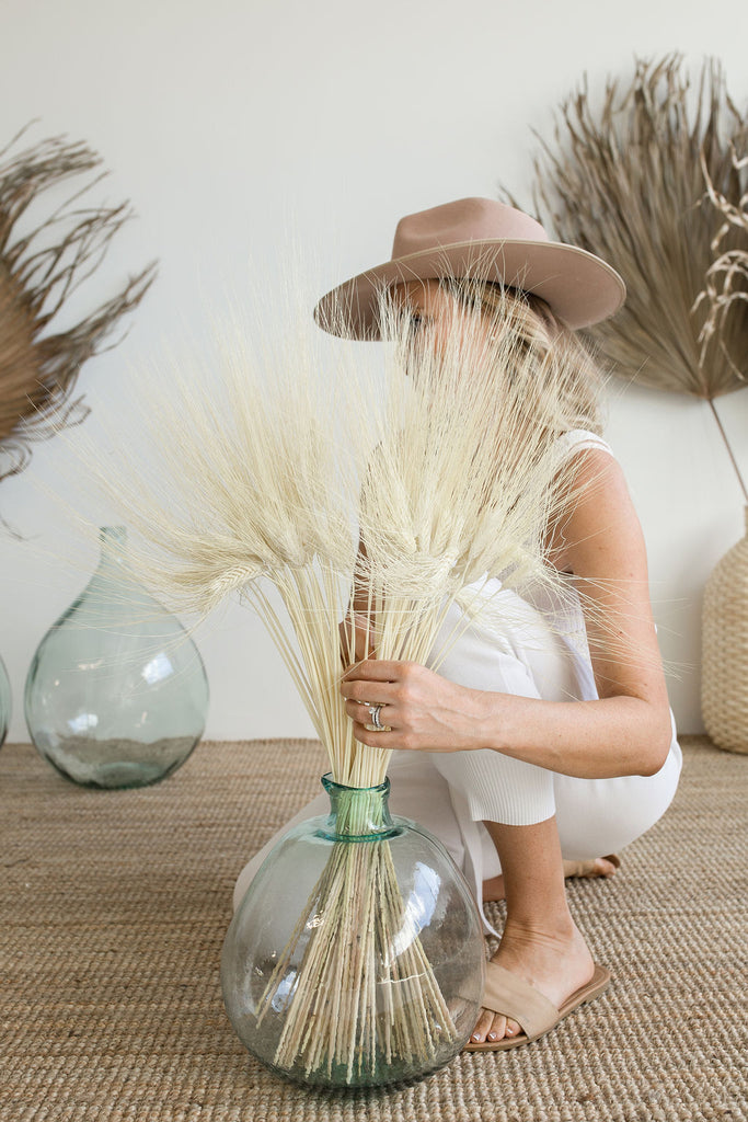 Dried Wheat Bleach White - LUXE B PAMPAS GRASS