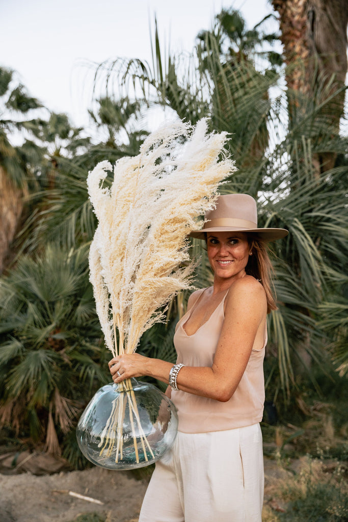 PAMPAS GRASS (3 Stems)- Type 2 Bleached White - LUXE B OFFICIAL