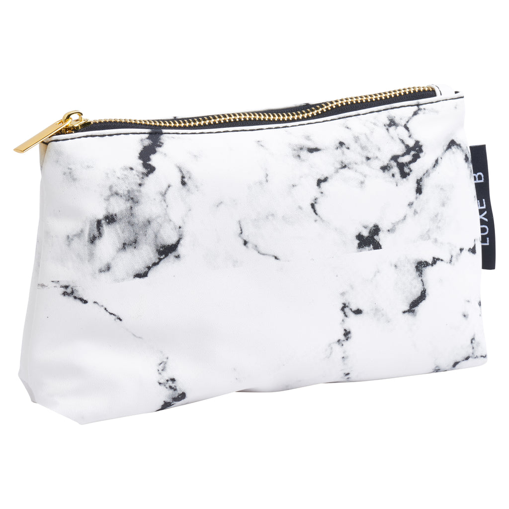 LUXE B Marble Cosmetic Makeup Bag- Smaller size to fit in your purse - LUXE B OFFICIAL