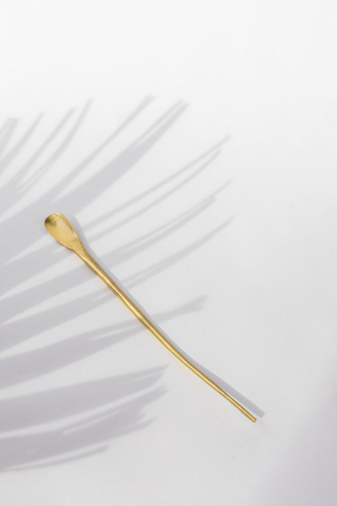 Brass Cocktail Spoon - LUXE B PAMPAS GRASS