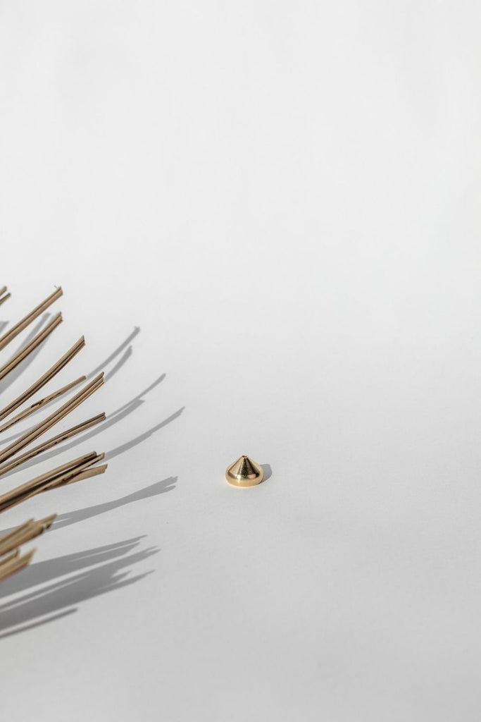 Gold Incense Holder - LUXE B PAMPAS GRASS