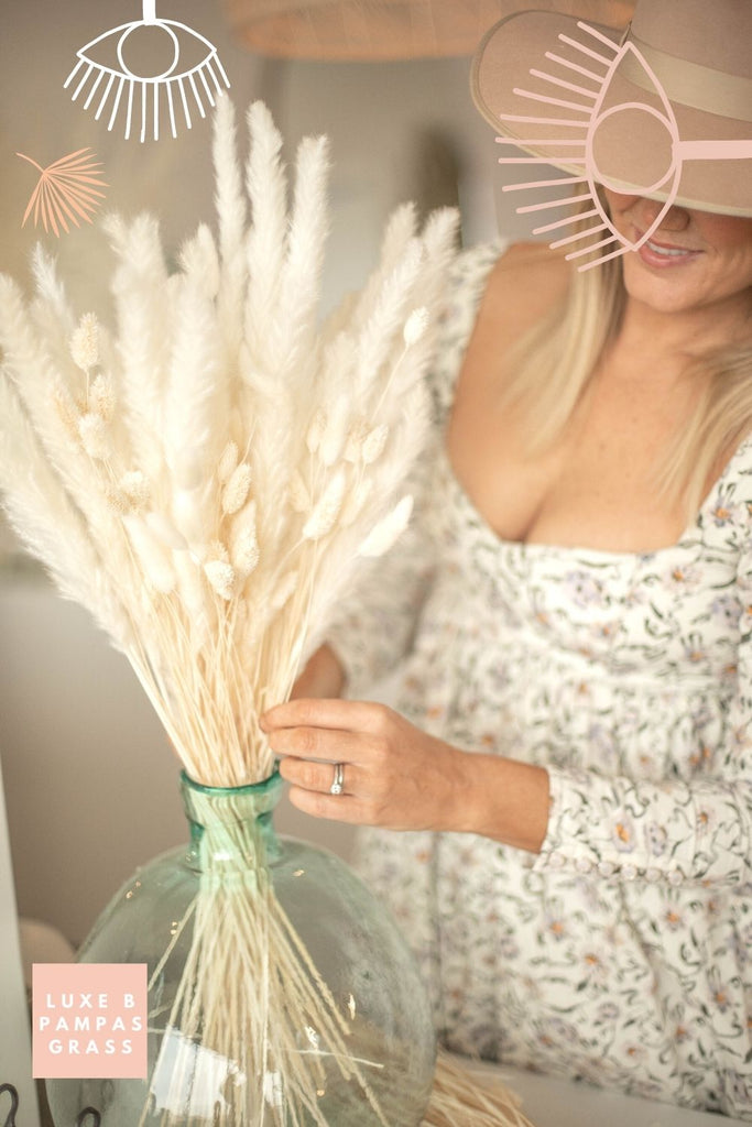 Bleach White Dried Floral Pampas Promo Pack - LUXE B Pampas Grass