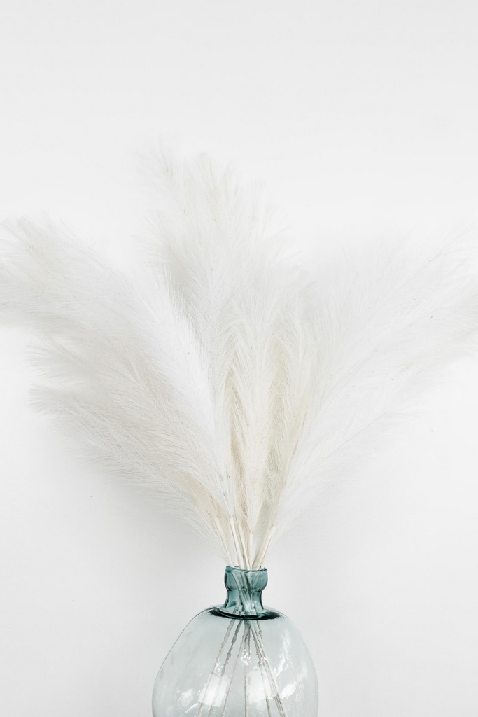 "Luxe B ""Faux"" Artificial Pampas Grass White"